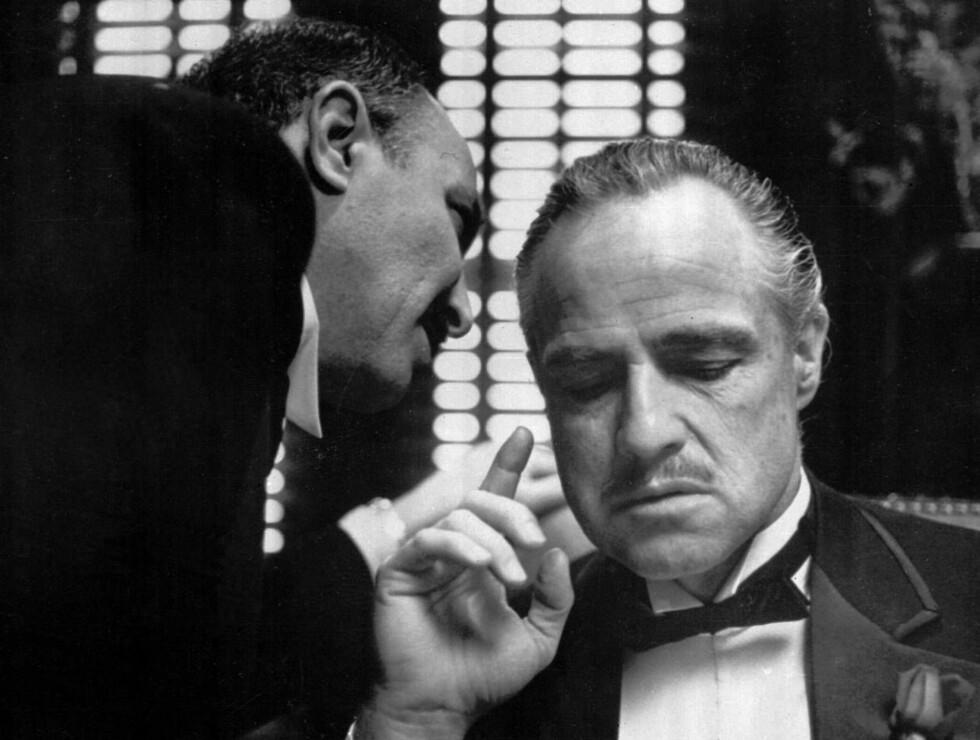 VANT: Som Don Vito Corleone i Gudfaren-triologien, ble Marlon Brando udødelig. Foto: AP/Scanpix
