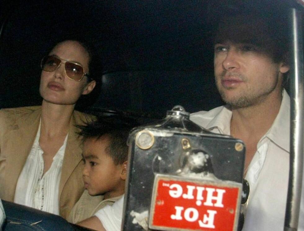 "TRUET PÅ LIVET: al-Qaida truer Brad Pitt og Angelina Jolie, hvis filmen ""A mighty heart"" blir sluppet.  Foto: AP"