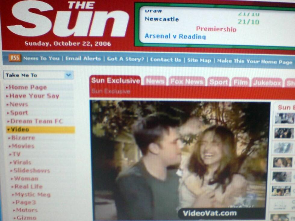 NETTET RUNDT: Den avslørende videoen går verden rundt på nett. The Sun har gitt den god plass. Foto: Fra video