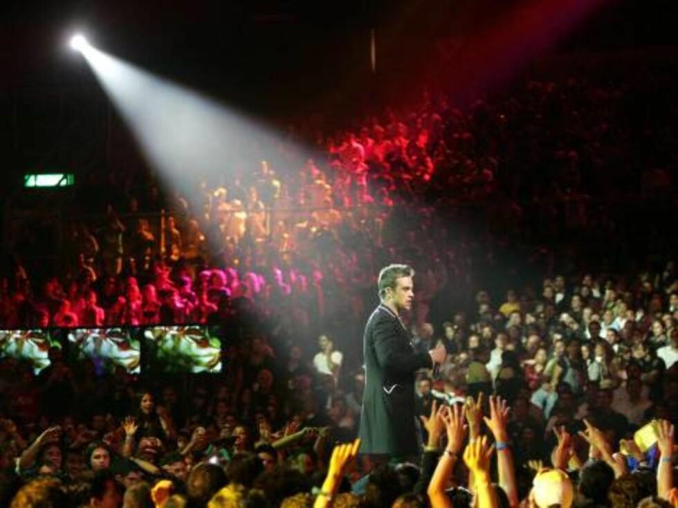 Robbie er en populær kar! Foto: All Over Press