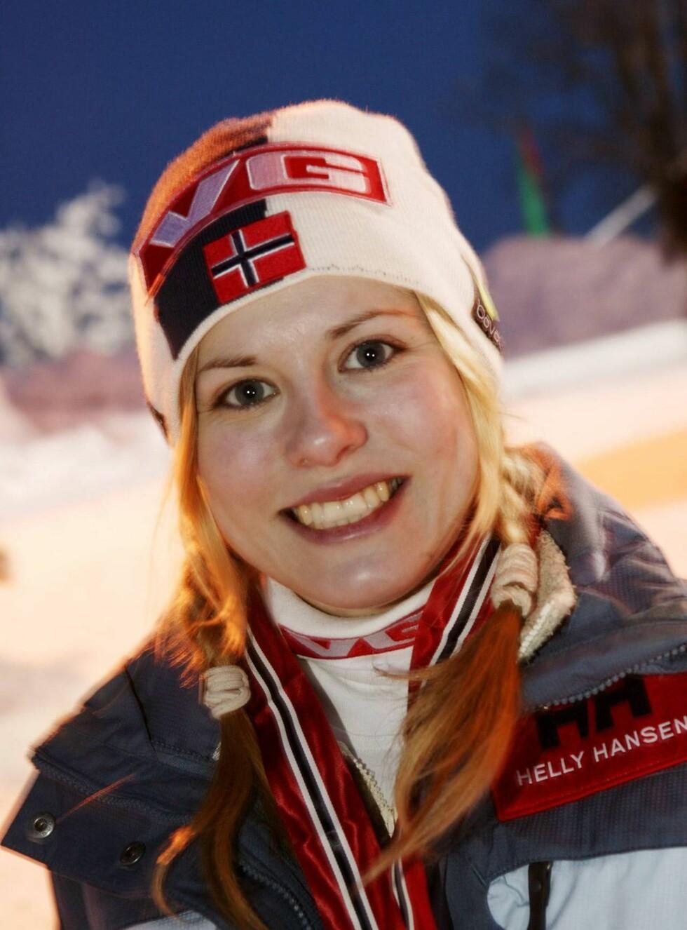 OSLO 20040201: Hoppesset Anette Sagen. Foto: Se og Hør, Werner Juvik