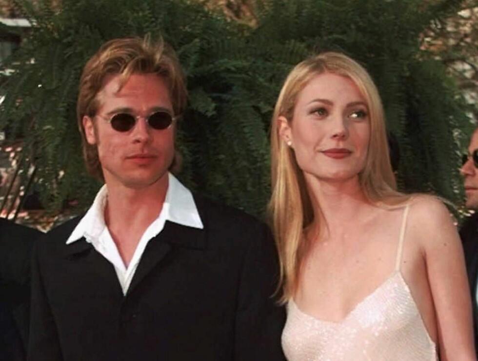 FORLOVET: For ti år siden var Gwyneth og Brad Hollywoods heteste par. Foto: AP/Scanpix