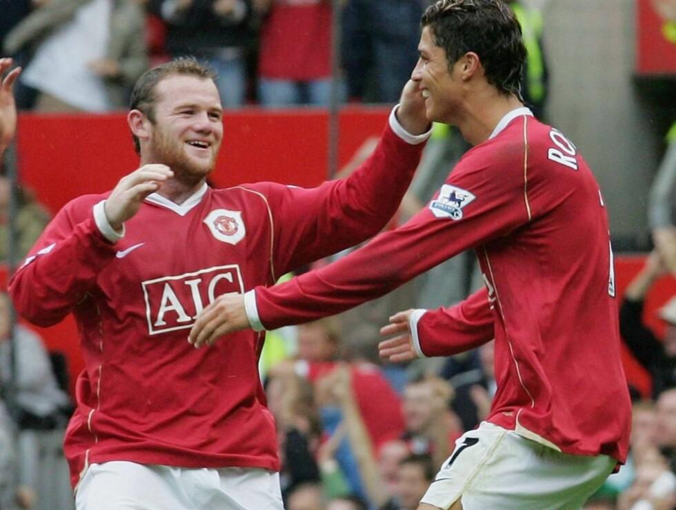 FOTBALLPROFF: Wayne Rooney og Cristiano Ronaldo scorer for Manchester United. Nå prøver Rooney seg på nye kunster... Foto: All Over Press