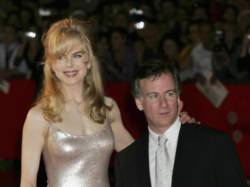 Oscar-vinneren Nicole Kidman sammen med den litt lavere filmregissøren Steven Shainberg. Foto: All Over Press