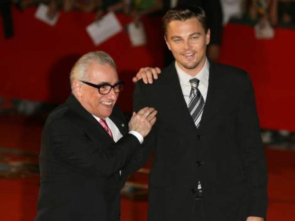 US director Martin Scorcese (L) and US actor and cast member Leonardo DiCaprio pose upon arrival at the screening of 'The Departed' during the first edition of the Rome Film Festival in Rome, Italy on October 15, 2006.  (Pictured : Martin Scorcese, Leonar Foto: Stella Pictures