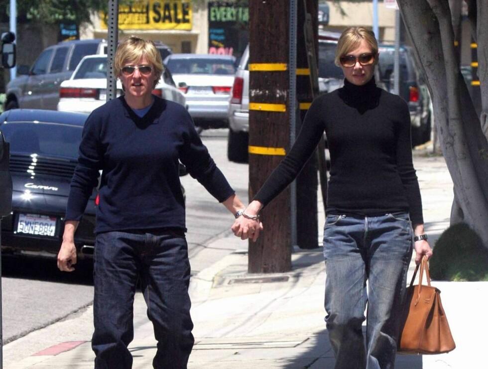 ÅPNE: DeGeneres og de Rossi har aldri lagt skjul på kjærligheten mellom dem. Foto: All Over Press