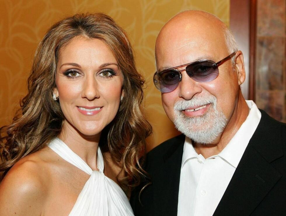 LYKKELIGE: Celine og Rene har vært gift siden 1994. Nå vil de ha sitt andre barn! Foto: All Over Press
