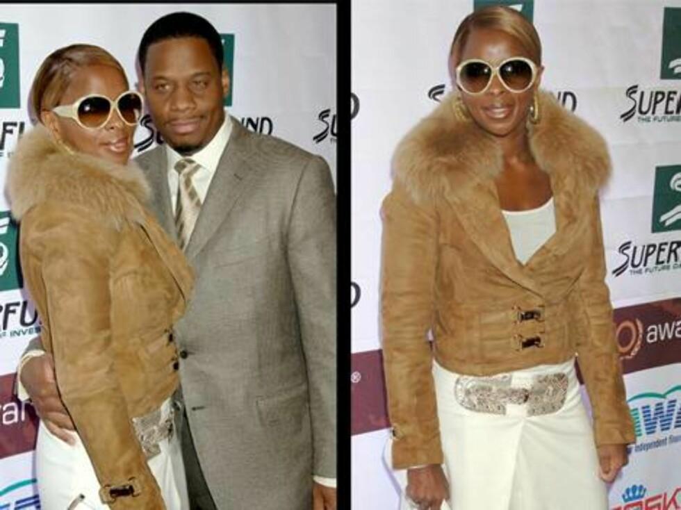 ONE LOVE: Mary J. Blige dro på fest med ektemannen Kendu Isaacs. Foto: Stella