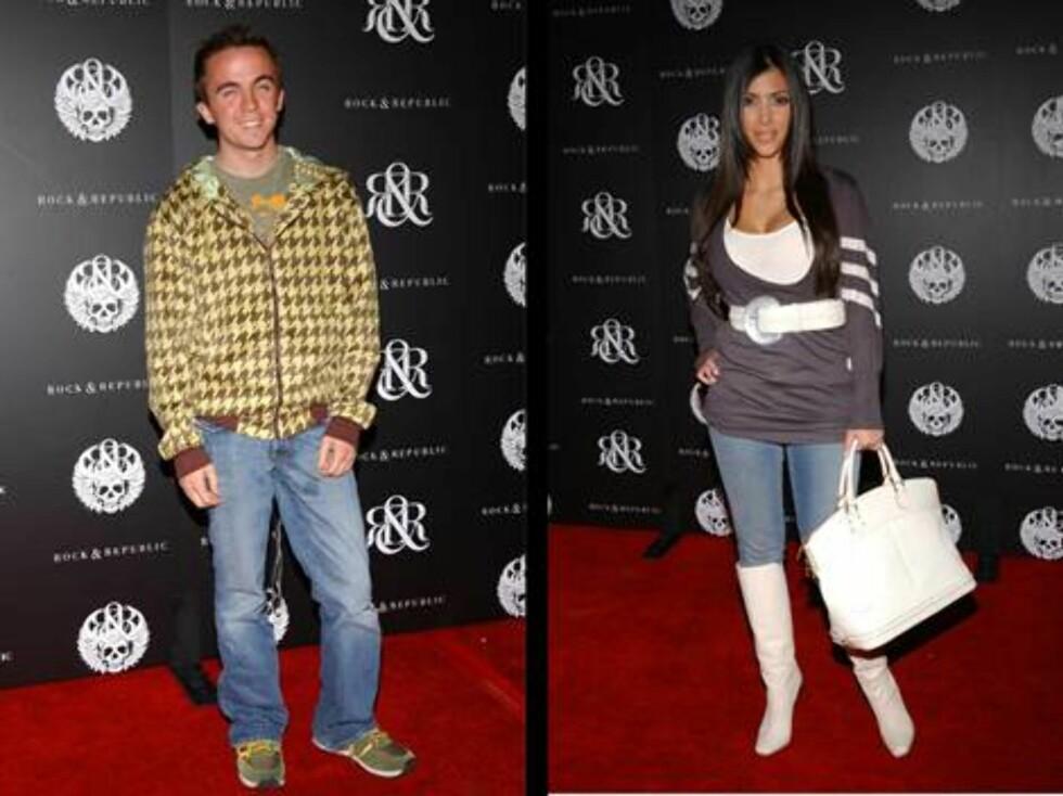 "PÅ ROCK & REPUBLIC-FEST: ""Malcolm i midten""s Frankie Muniz og stylist Kim Kardashian. Foto: Stella"