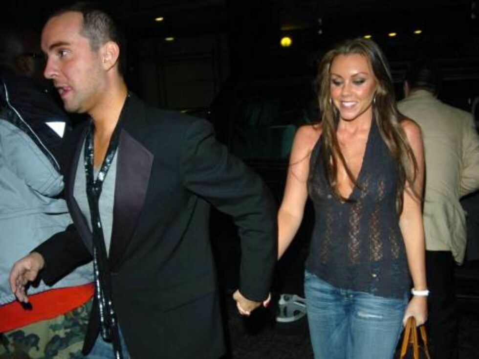 Michelle Heaton and Andy Scott Lee at Ashlee Simpson's 22nd birthday party, held at the Embassy club in London, October 11, 2006.  Photo: Charlie Pycraft/YD Image Code: 4028   COPYRIGHT STELLA PICTURES Foto: Stella Pictures