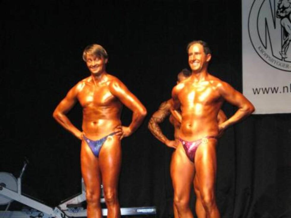 Thomas og Harald deltar i NM i fitness. Foto: Hanne Erøy