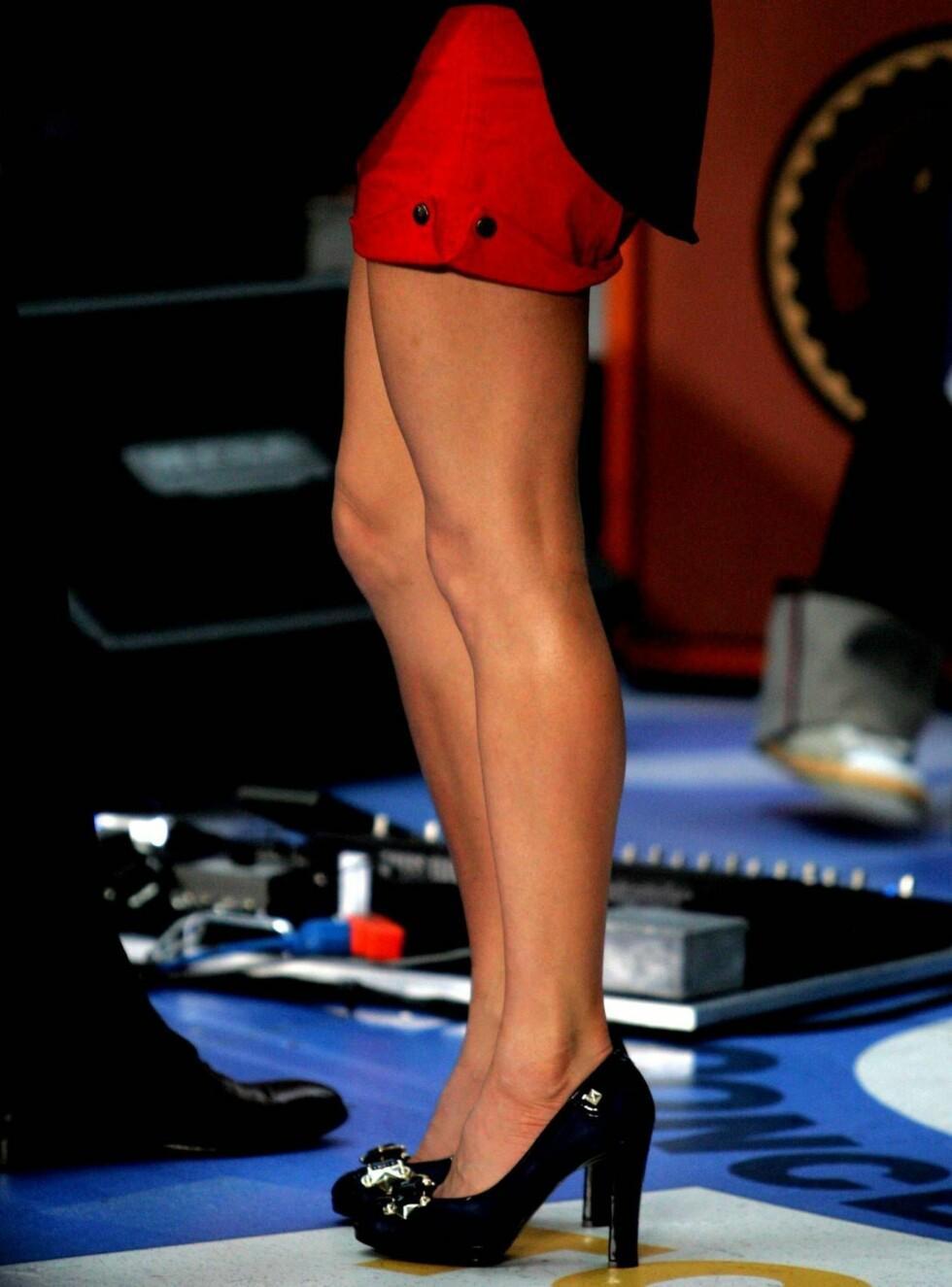 VANT: Det er ingen tvil om hvorfor vakre Fergie stakk av  med seieren. Foto: All Over Press