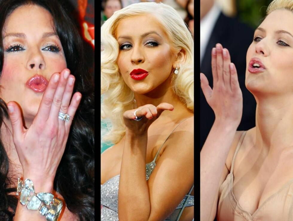 BABES: Cahterine Zeta-Jones, Christina Aguilera og Scarlett Johansson vil alle spille Jeanne.  Foto: AP/Scanpix