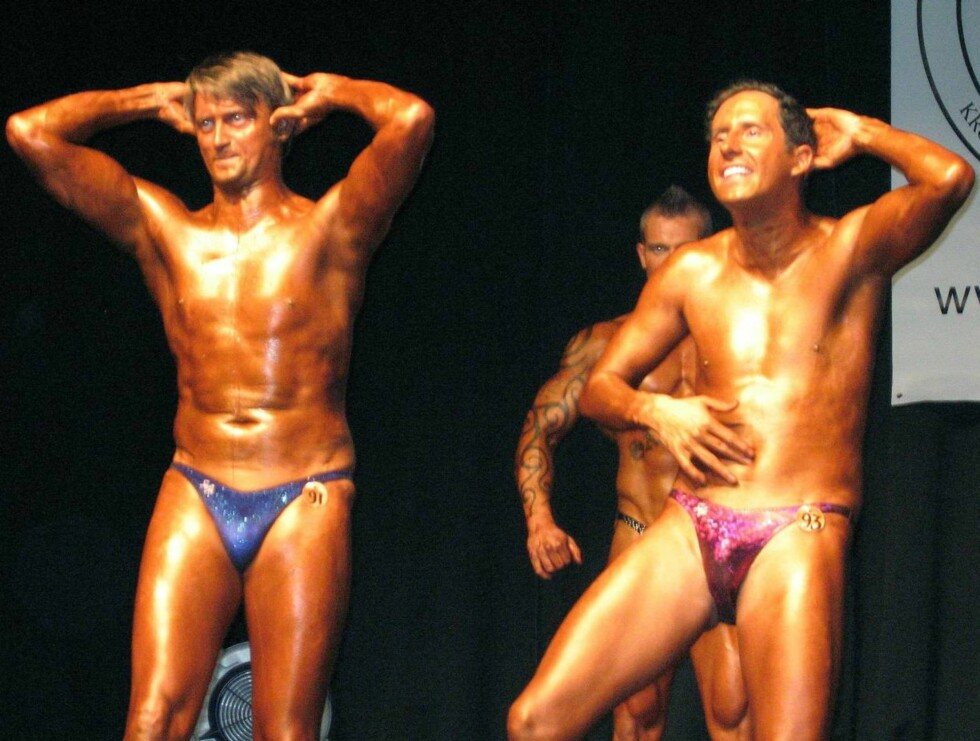 KROPPS-SJOKK: Thomas og Harald poserte i bare trusa - og viste muskler som aldri før... Foto: hanne erøy