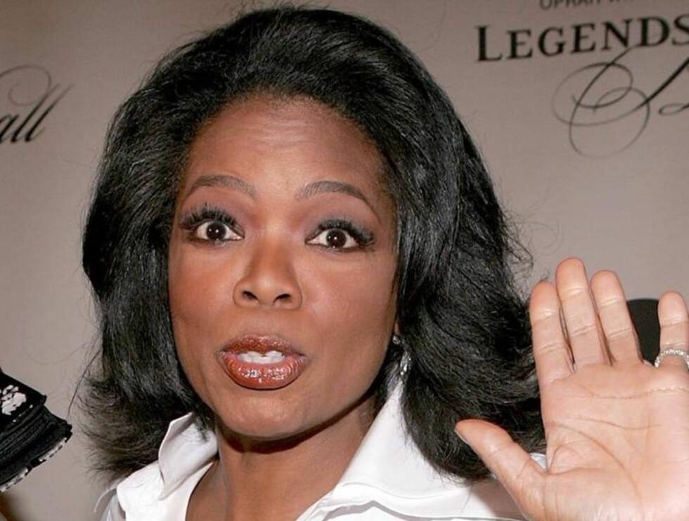 PÅ SLANKEKUR: I følge kilder skal Oprah Winfrey ha prøvd å leve på 800 kalorier i døgnet. Foto: All Over Press