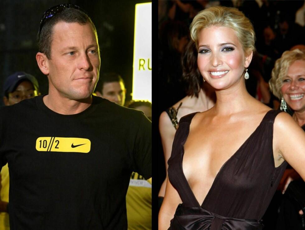 SYKLER I TAKT: Lance Armstrong skal ha funnet tonen med styrtrike Ivanka Trump.