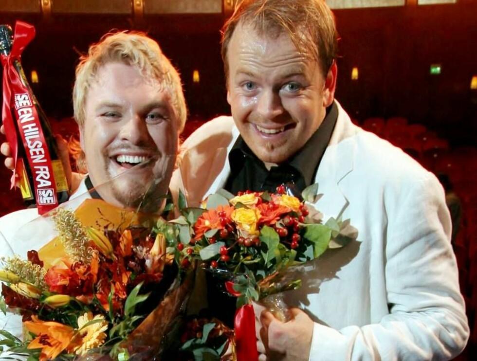 """TURNERTE: Jan Werner Danielsen og Tommy Steine hadde stor suksess med """"The Show"""". Foto: Morten Krogh"""