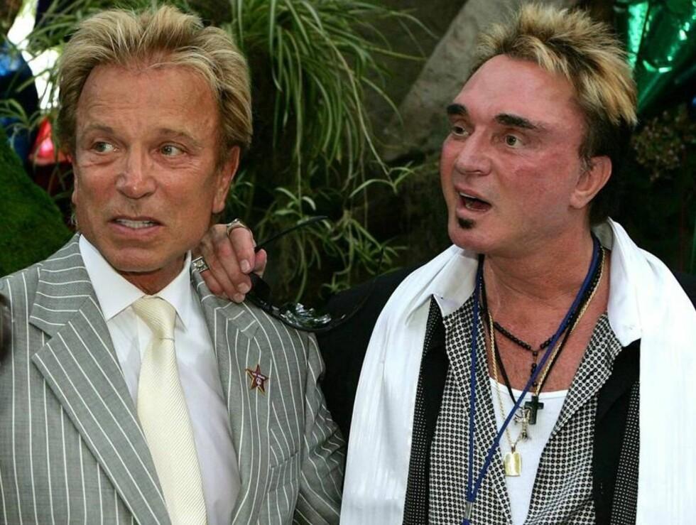 TIGERGUTTA: Roy Horn og Siegfried Fischbacher hadde kledd seg for evigheten i Las Vegas. Foto: All Over Press