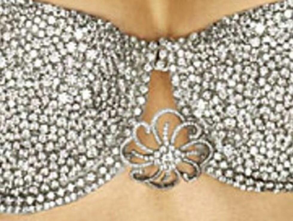 TUNG BØR: Bh-en er brodert med 200 diamanter og har en 10-karats diamantnål i midten.