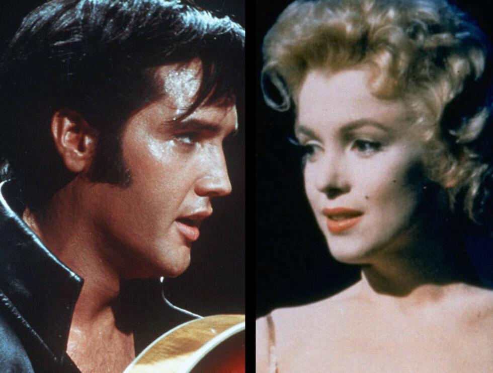THAT'S ALLRIGHT MAMA: Marilyn har tidligere vært koblet til USAs president John F. Kennedy. Nå hevdes det at også Elvis var blant hennes nære venner...