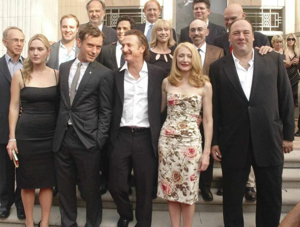 """KJENTE FJES: Kate Winslet spiller sammen med Jude Law ( kjent fra """"Alfie""""), Sean Penn (Mystic River), Patricia Clarkson (Six feet under) og James Gandolfini (Sopranos) i """"All the king's men"""". Foto: All Over Press"""