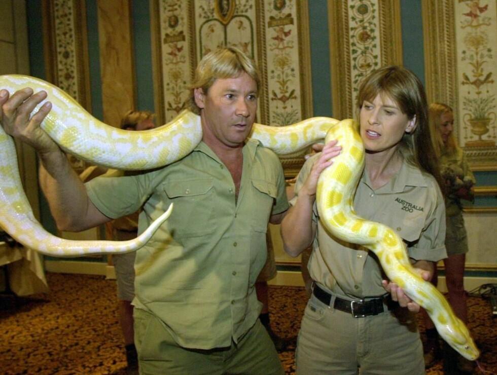 VÅGHALS: Steve Irwin presset grenesene, og mente selv han ville dø ung. Foto: AP/Scanpix