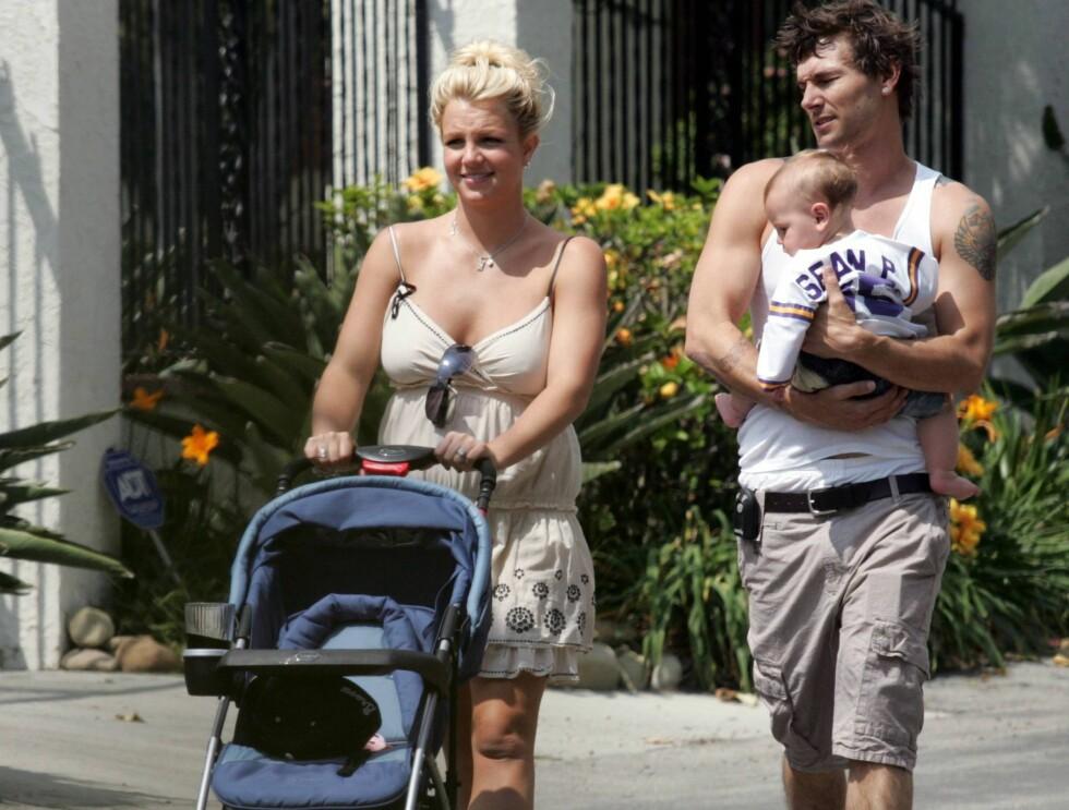 I FOKUS: Nå har Britney og Kevin to barn sammen. Dermed er de enda mer ettertraktet for fotografene. Foto: All Over Press