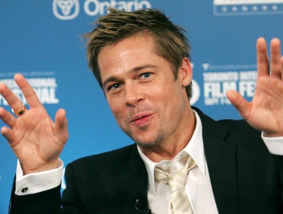 FAMILIEKJÆR: Brad skal ha flere barn enn han har fingre. Foto: All Over Press