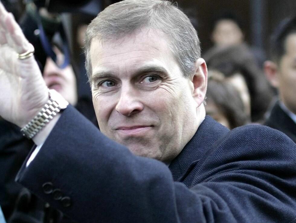 STATUE: Prins Andrew har avduket mange statuer tidligere, men neppe mange av hunder i uniform... Foto: AP