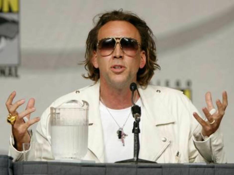 MÅ FORKLARE SEG: Nicholas Cage anklages for skattejuks i millionklassen.  Foto: All Over Press