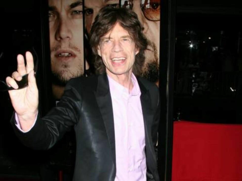 Rolling Stones-vokalisten Mick Jagger ankommer. Foto: Stella Pictures