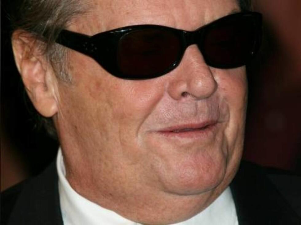Kule Jack Nicholson sjekker trøkket. Foto: Stella Pictures