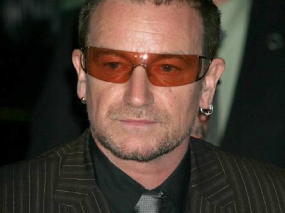 U2-frontfiguren Bono var svært spent. Foto: Stella Pictures