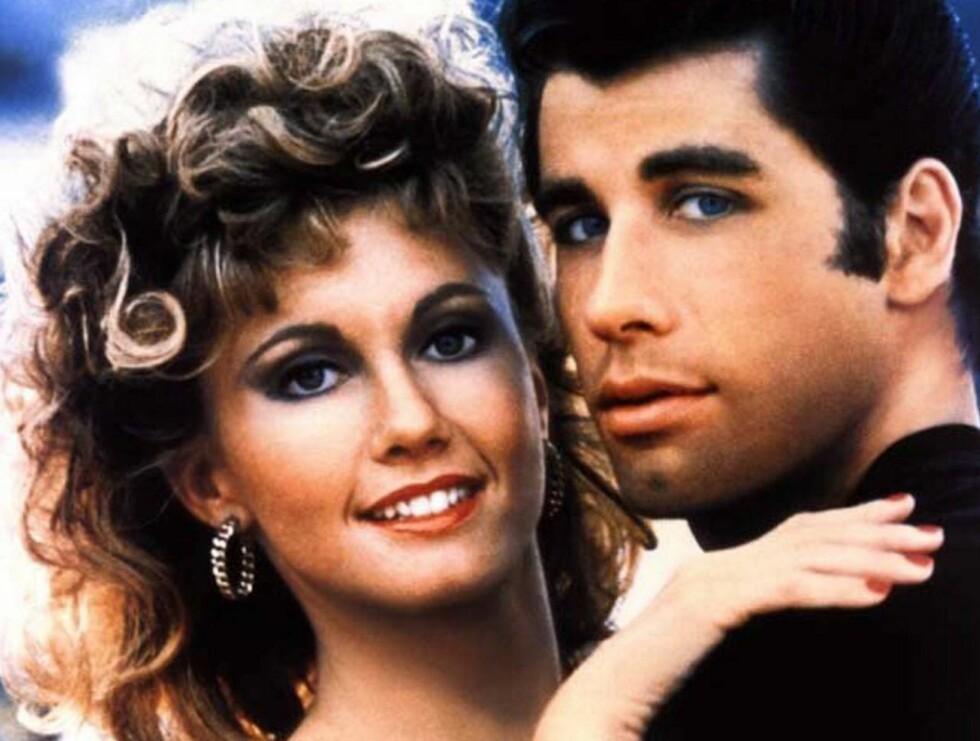 """DOMMER: Olivia Newton-John og John Travolta ble kjempepopulære i Hollywood etter filmen """"Grease"""". Foto: AP/Scanpix"""