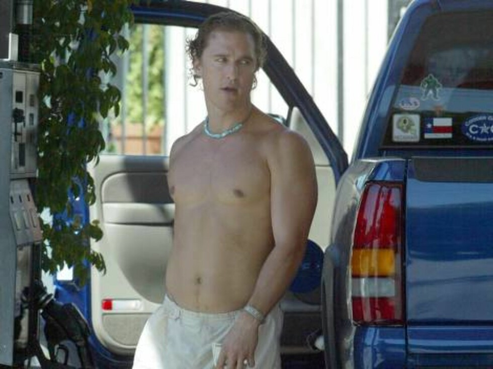 Ok, så fyller han ikke bensin. Men lekker er han jo, Matthew McConaughey.