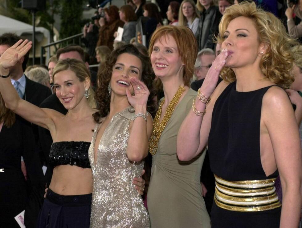 "SEXY: Her er gjengen fra ""Sex og singelliv"": Sarah Jessica Parker, Kristin Davis, Cynthia Nixon og Kim Cattrall. Foto: AP/Scanpix"