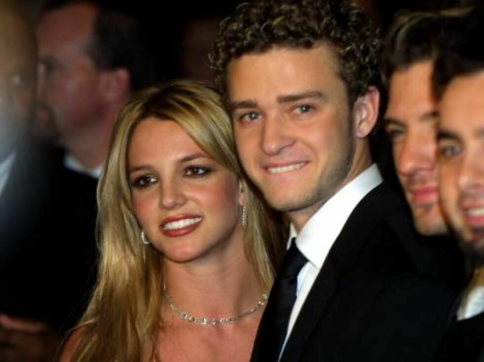 TOK SLUTT: De var et av Hollywoods heteste par, men i 2002 tok forholdet mellom Britney og Justin slutt. Foto: All Over Press