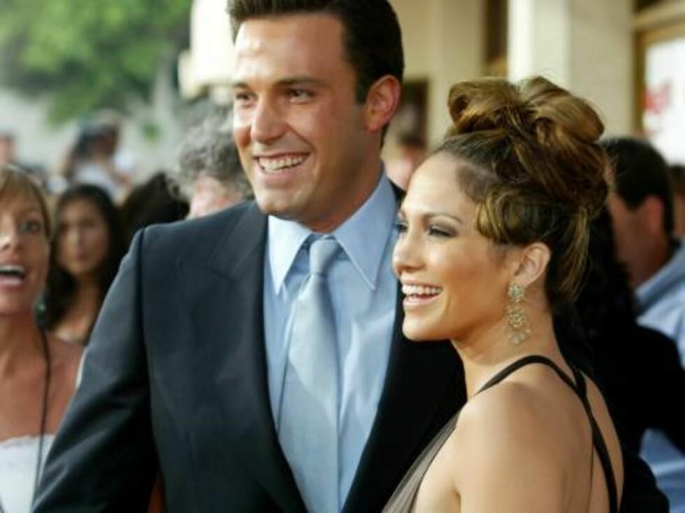 BEN AFFLECK OG JENNIFER LOPEZ: Bennifer ble sammen i 2002, forlovet seg og gikk fra hverandre i 2004. Foto: All Over Press