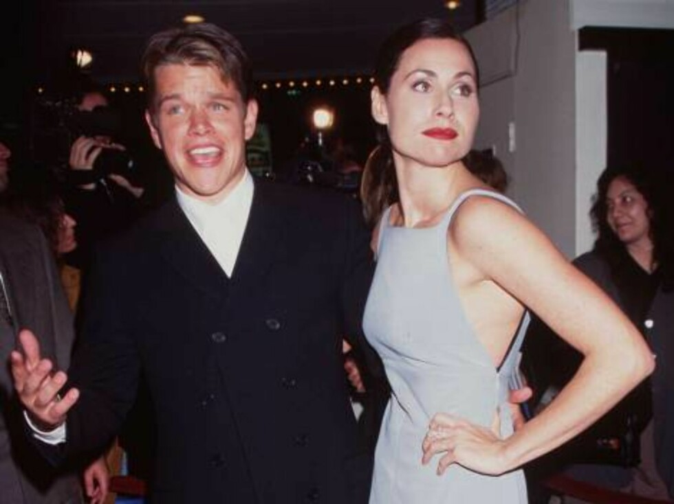 """No 1139651 12/2/97 WestWood, Ca Matt Damon and Minnie Driver at the movie premiere of """"Good Will Hunting."""" /Getty Images / ALL OVER PRESS Foto: All Over Press"""