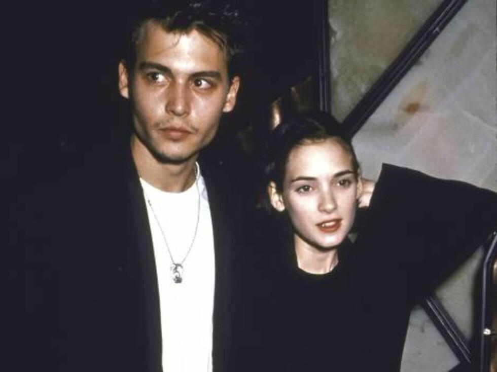 EKS: Johnny Depp og Winona Ryder var kjærester fra 1989 til 1993. Da de var sammen taotverte han «Winona Forever» som etter bruddet gjorde om til «Wino Forever». Foto: All Over Press