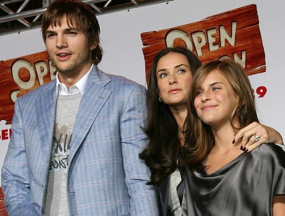 FAMILIEMANN: Ashton Kutcher gikk fra å en av de hotteste unggutta til å bli familiemann med godt voksen kone og tre stedøtre. Foto: All Over Press