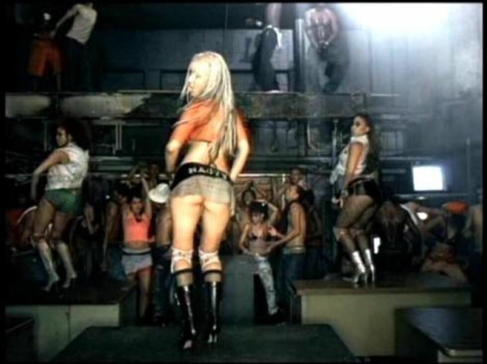 "4. Christina Aguileras ""Dirrty"". Foto: Fra videoen"
