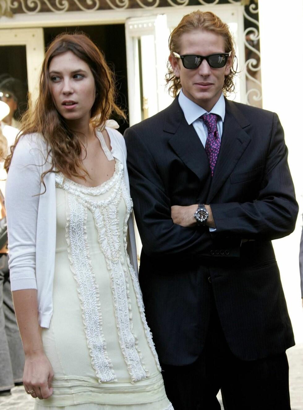PENT PAR: Andrea Casiraghi viste frem sin flotte kjæreste Tatiana. Foto: Stella Pictures