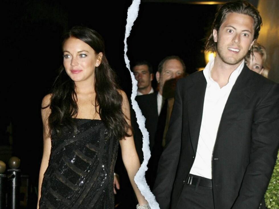 PAUSE: Harry Morton klarte ikke å henge med på festkjøret til Lindsay Lohan.