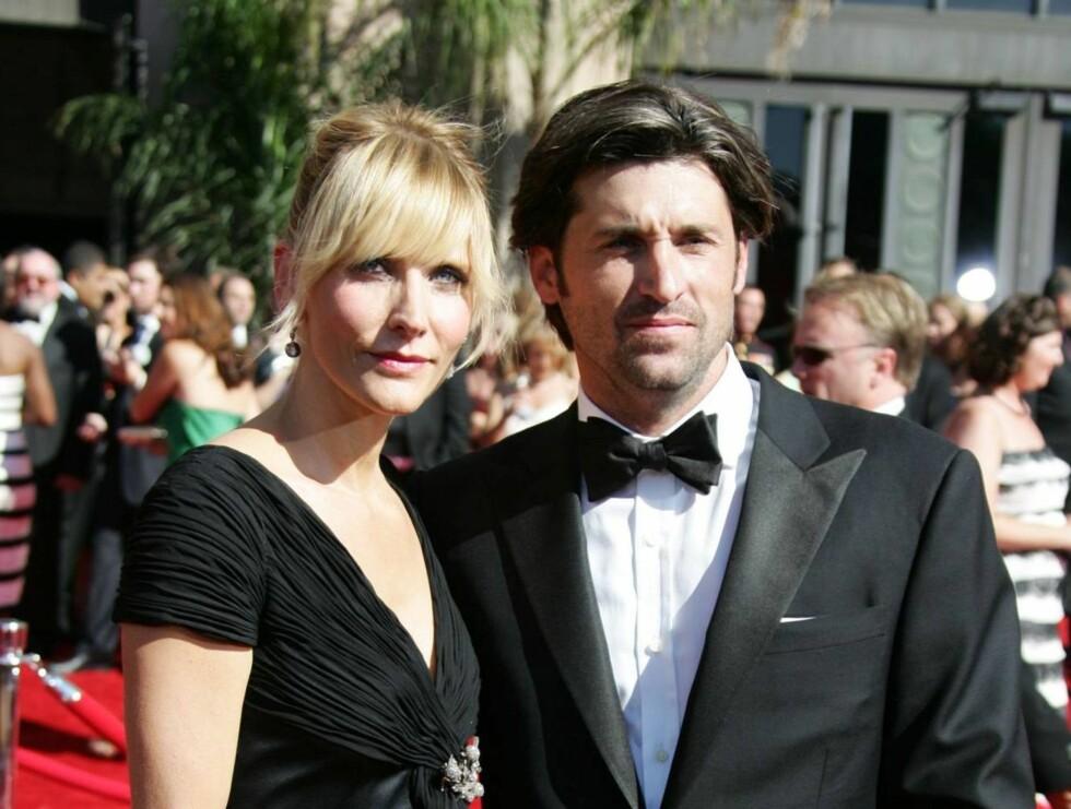 STOLTE FORELDRE: Patrick Dempsey og kona Jillian Fink gleder seg til å få barn nummer to. Foto: All Over Press