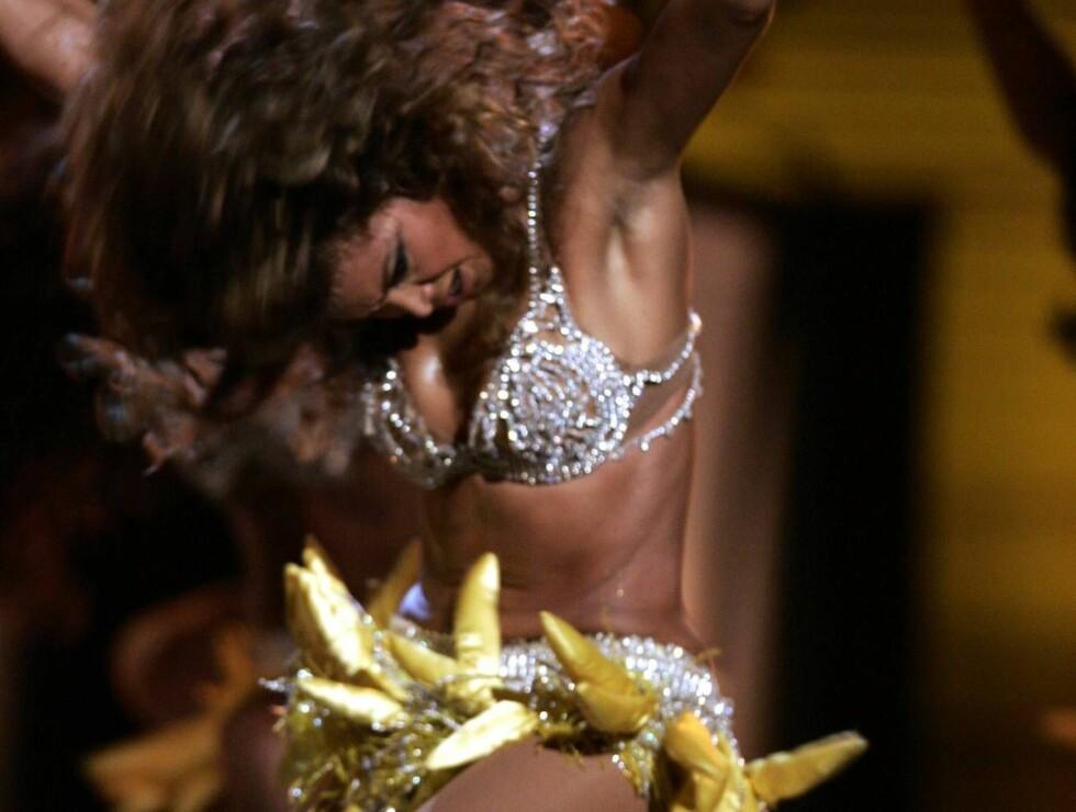 MYK: Beyoncé rister på bananene. Foto: AP/Scanpix
