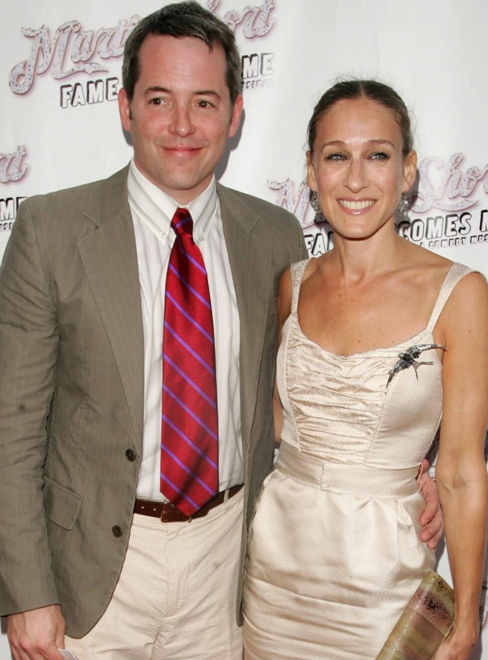 VENTER BARN: Matthew Broderick og Sarah Jessica Parker skal bli foreldre igjen. Foto: All Over Press