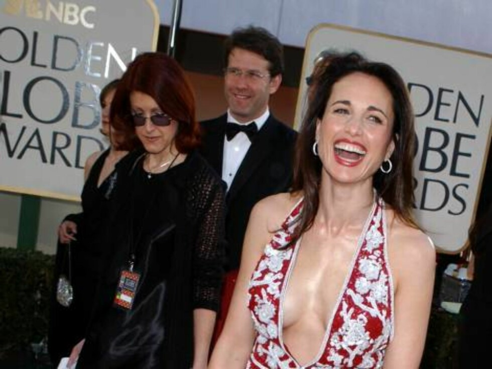 399817 36:  Actress Andie MacDowell attends the 59th Annual Golden Globe Awards at the Beverly Hilton Hotel January 20, 2002 in Beverly Hills, CA.  (Photo by Vince Bucci/Getty Images) ALL OVER PRESS Foto: All Over Press