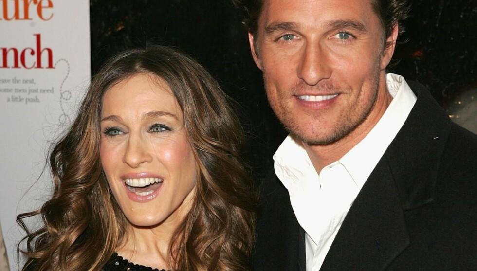 SPREKKER I FASADEN: Matthew McConaughey skal ha stemplet Sarah Jessica Parker som sprø og utrivelig, men Sex og Singelliv-stjernen hevder ryktene er ren bløff. Foto: All Over Press