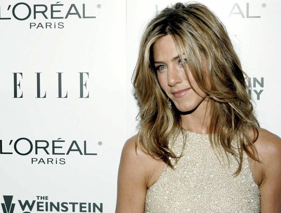 VAKKER: Jennifer Aniston er kåret til verdens best kledde! Foto: AP/Scanpix